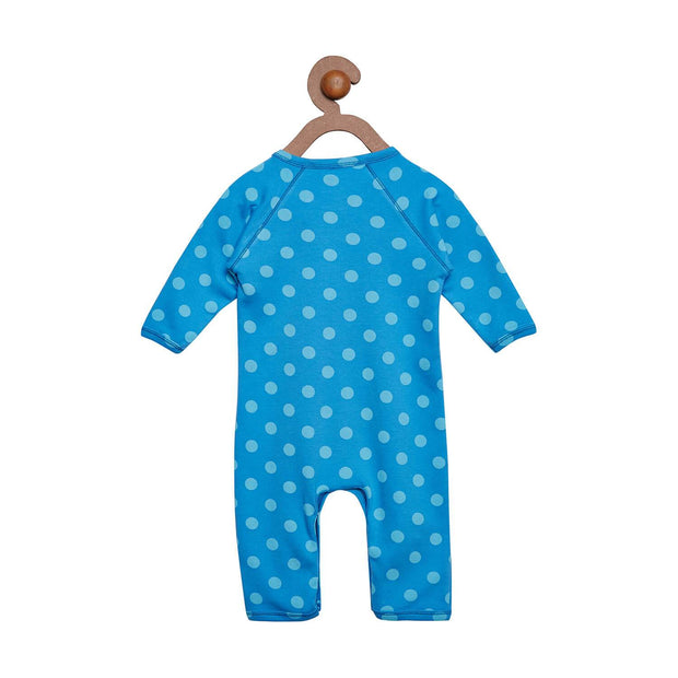 Berrytree Organic Cotton Baby Romper Blue Polka BerryTree