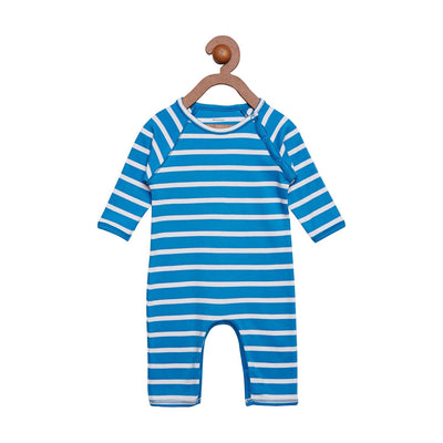 Berrytree Organic Cotton Baby Romper Blue Stripes BerryTree