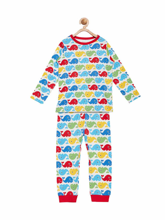 Berrytree Organic cotton Night Suit Set Whales