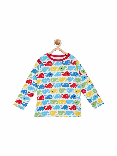 Berrytree Organic Cotton Long top Whales