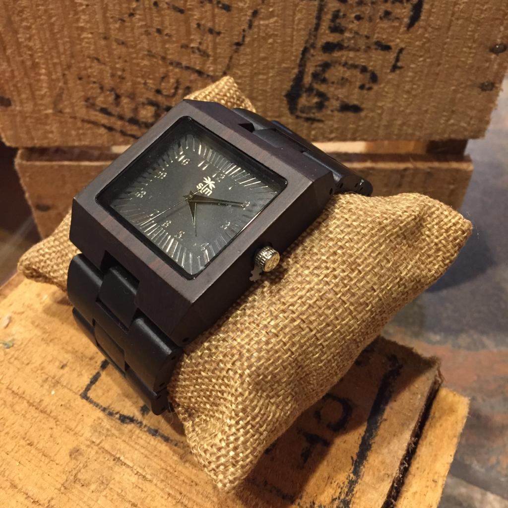 Large Wood Watch - Ebony
