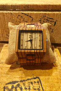 Watch Large Wood Watch - Zebrawood