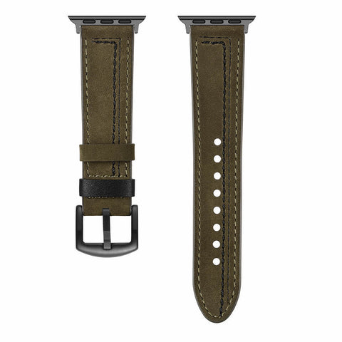 Venice Leather Apple Watch Band (khaki)