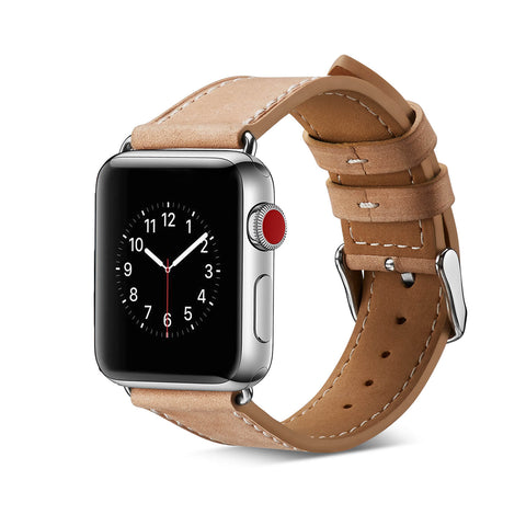 Milan Leather Apple Watch Band (Natural)