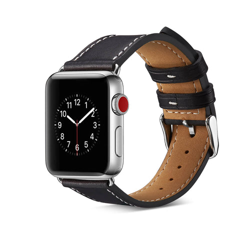 Milan Leather Apple Watch Band (Black)