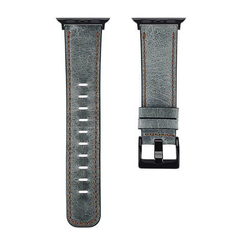 Antique Leather Apple Watch Band (Antique Grey)