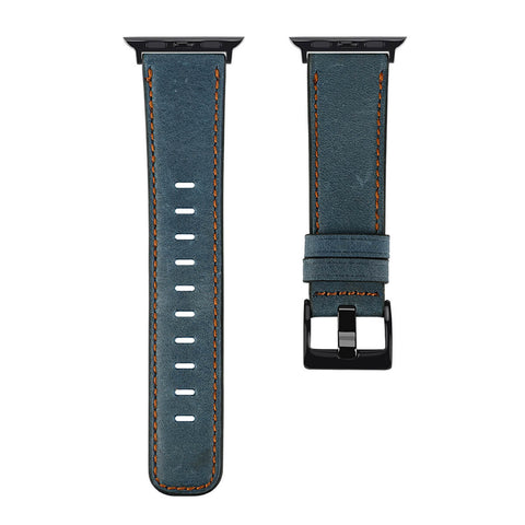Antique Leather Apple Watch Band (Antique Blue)