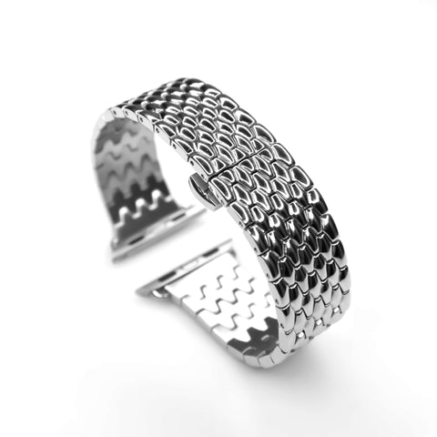 Cobra Stainless Steel Apple Watch Band (Sliver)