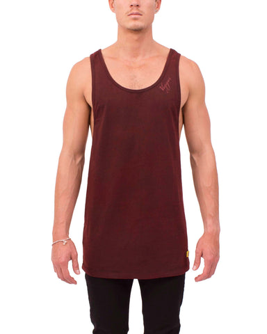 DRAPE SINGLET (RED COAL)