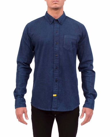 STRETCH DENIM SHIRT L/S (Mid Night Blue)