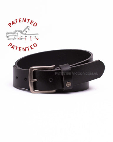 Genuine full grain leather belts, CLASSIC BLACK 35mm | 1.3 inch BELT