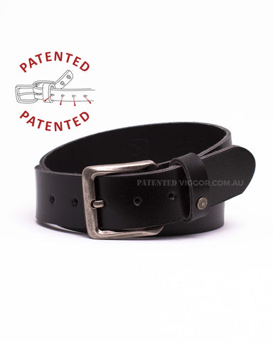 Genuine full grain leather belts, CLASSIC BLACK 40mm | 1.5 inch BELT