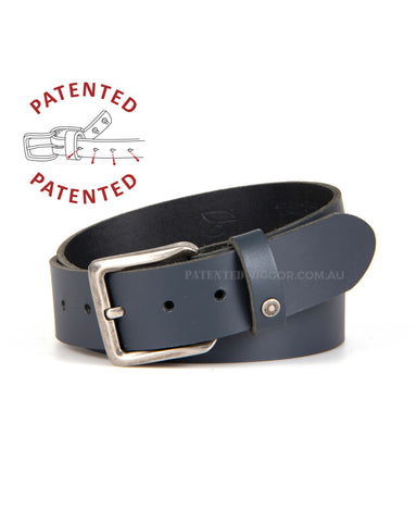 Genuine full grain leather belts, BLUE NAVY 40mm | 1.5 inch BELT