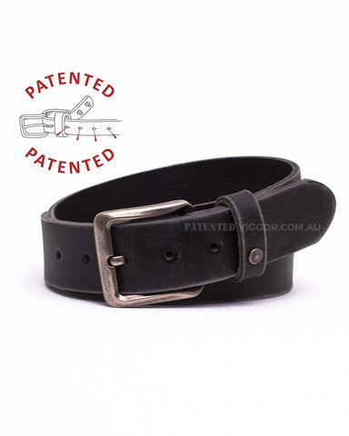 DISTRESSED BLACK 40mm | 1.5 inch BELT