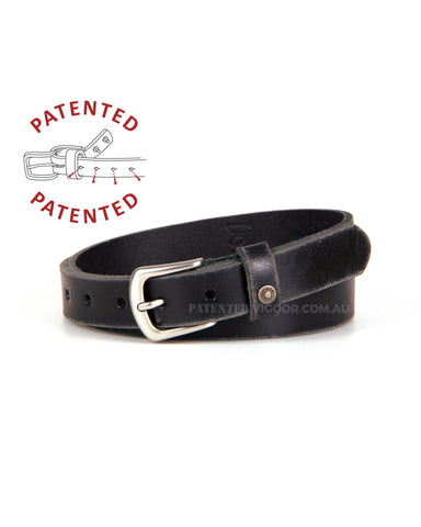 DISTRESSED BLACK 25mm | 1 inch BELT
