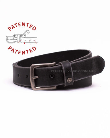 DISTRESSED BLACK 35mm | 1.3 inch BELT