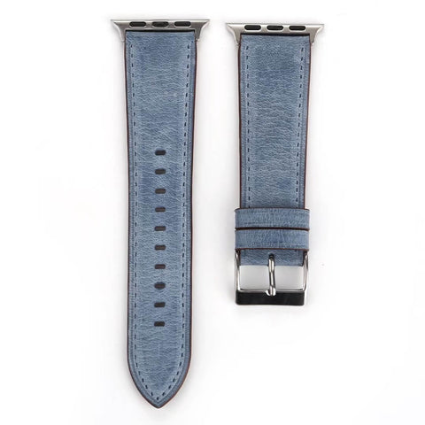 Sorrento Leather Apple Watch Band (Blue)