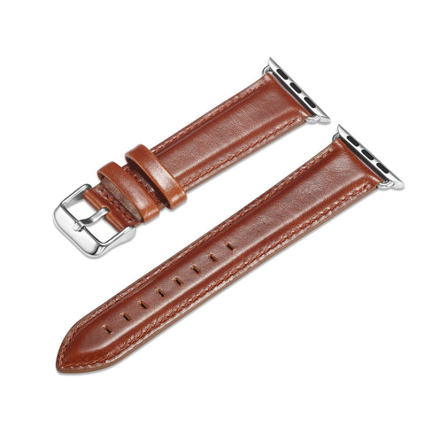 Classic Italian Leather Apple Watch Band (Tan)
