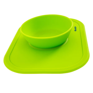 Silicone Baby Bowl Lime Green