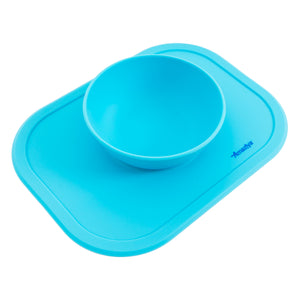 Silicone Baby Bowl Baby Blue