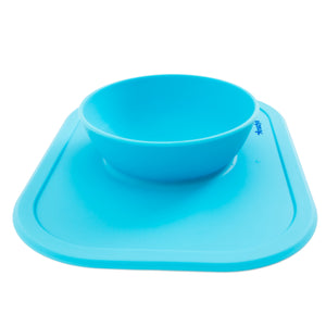 Silicone Baby Bowl Blue
