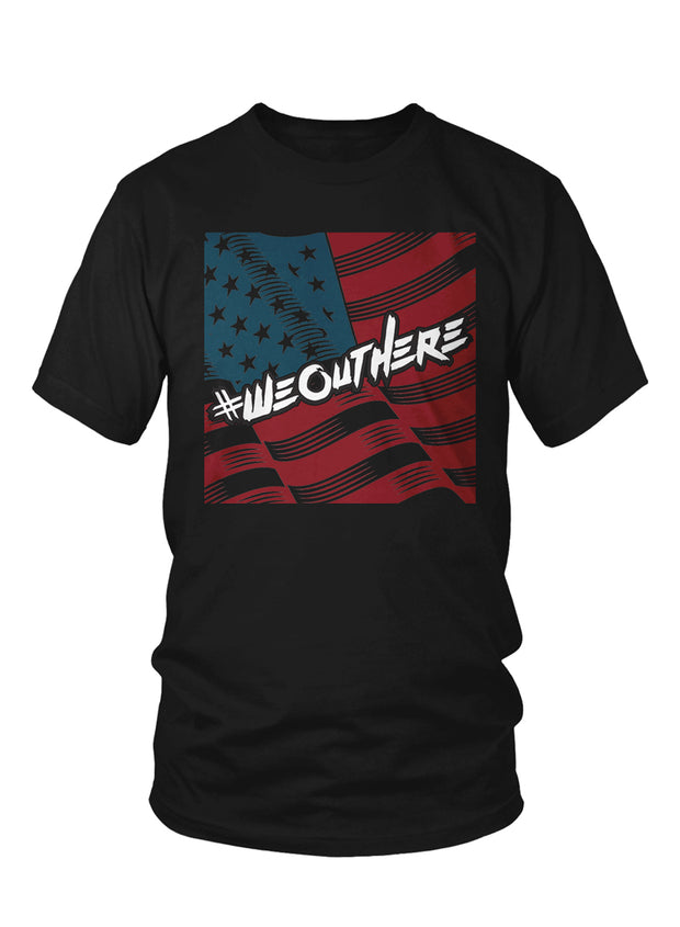 "#WeOutHere™ ""AMERICAN PRIDE"" T-SHIRT (Black) - We Out Here"