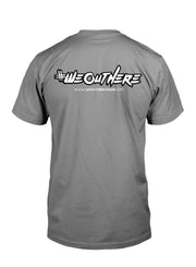 "#WeOutHere™ ""AMERICAN PRIDE"" T-SHIRT (Gray) - We Out Here"