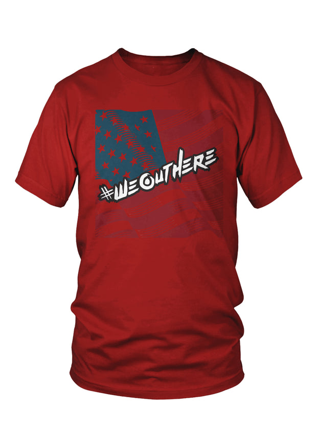 "#WeOutHere™ ""AMERICAN PRIDE"" T-SHIRT (Red) - We Out Here"