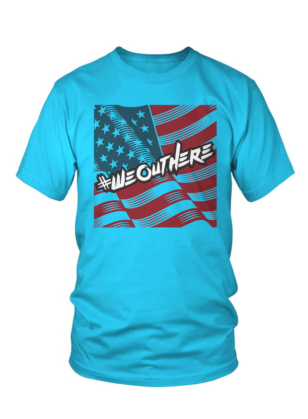 "#WeOutHere™ ""AMERICAN PRIDE"" T-SHIRT (Turqoise) - We Out Here"