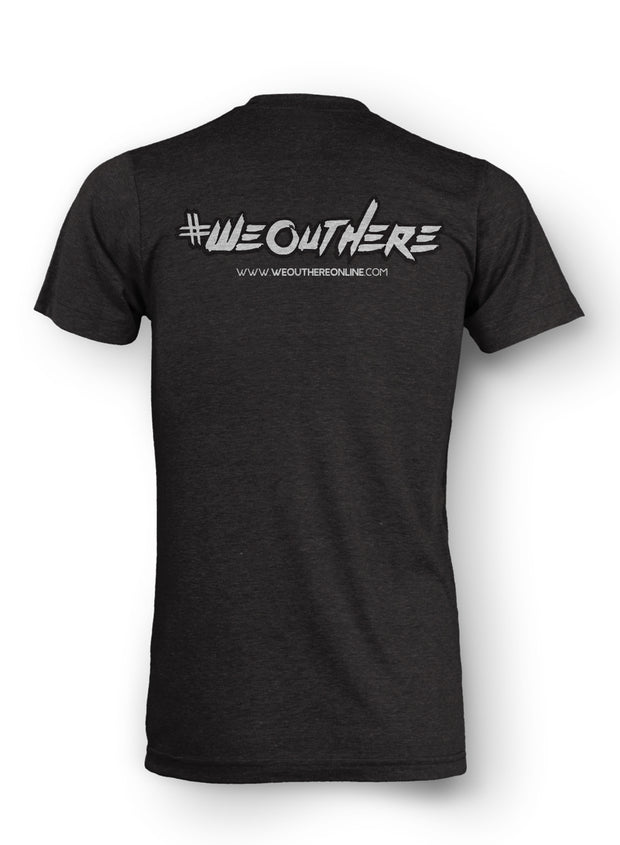 "#WeOutHere™ ""SEIGE"" TriBlend T-SHIRT (Vintage Black) - We Out Here"