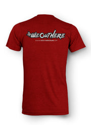 "#WeOutHere™ ""SEIGE"" T-SHIRT (Vintage Red) - We Out Here"