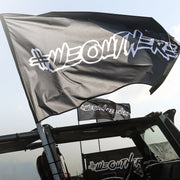 #WeOutHere™ LOGO FLAGS (Black) - We Out Here