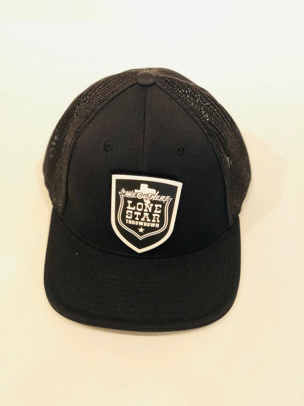 LIMITED LONESTAR THROWDOWN PATCH (Black)  FLEX FIT HAT - We Out Here