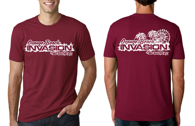#WeOutHere™ ORANGE BEACH INVASION  (Maroon) EVENT T-SHIRT