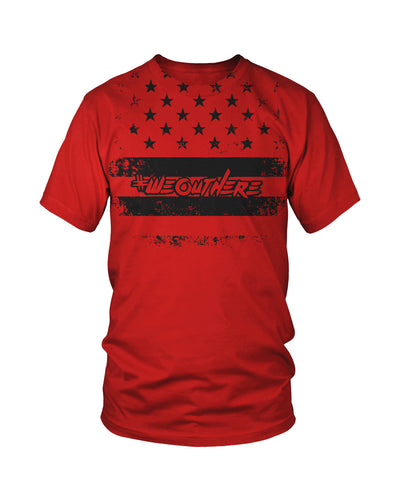 #WeOutHere™ PATRIOT T-SHIRT RED - We Out Here