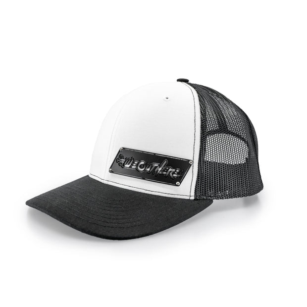 "#WeOutHere™ ""OUTLINE"" BLACK BILLET SNAPBACK (White/Black) - We Out Here"