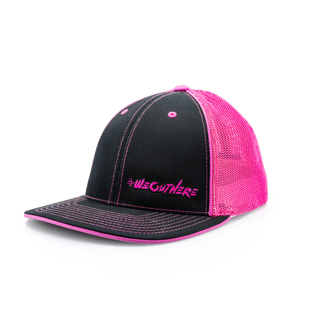 #WeOutHere™ (Black/Pink) FLEX FIT HAT - We Out Here