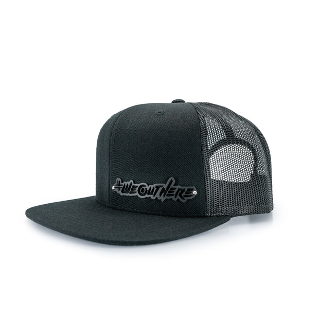 "LIMITED BILLET ""SCRIPT"" SNAPBACK BLACK/BLACK - We Out Here"