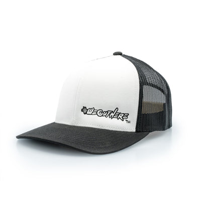 #WeOutHere™ (Black/White) SNAP BACK HAT - We Out Here