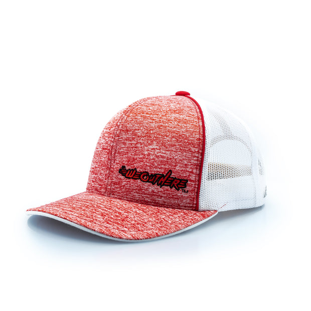 #WeOutHere™ (Heathered Red/Red Logo) SNAP BACK HAT - We Out Here