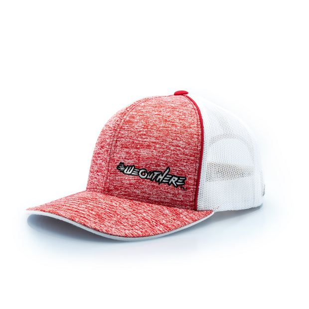 #WeOutHere™ (Heathered Red/White Logo) SNAP BACK HAT