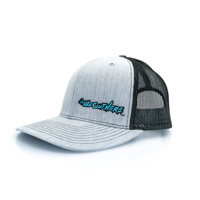 #WeOutHere™ Light Heathered Gray SNAP BACK (Blue) - We Out Here