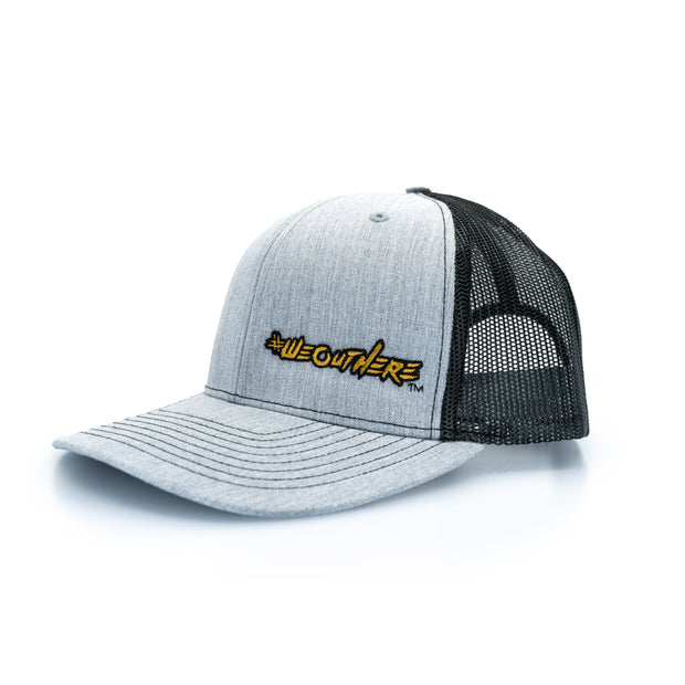 #WeOutHere™ Light Heathered Gray SNAP BACK (Gold) - We Out Here