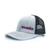 #WeOutHere™ Light Heathered Gray SNAP BACK (Pink) - We Out Here