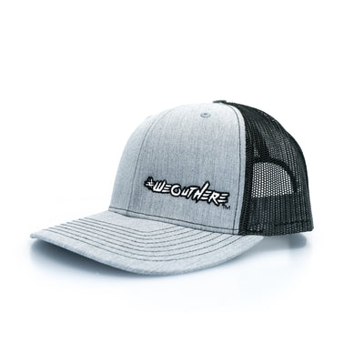 #WeOutHere™ Light Heathered Gray SNAP BACK (White) - We Out Here