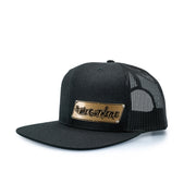 "#WeOutHere™ ""OUTLINE"" GOLD BILLET SNAPBACK (BLACK) - We Out Here"