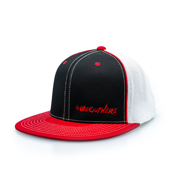 #WeOutHere™ (Red/Black/Red) FLEX FIT HAT - We Out Here
