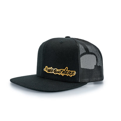 "LIMITED BILLET ""SCRIPT"" SNAPBACK BLACK/GOLD - We Out Here"