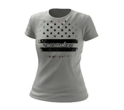#WeOutHere™ PATRIOT T-SHIRT GREY (Women's) - We Out Here