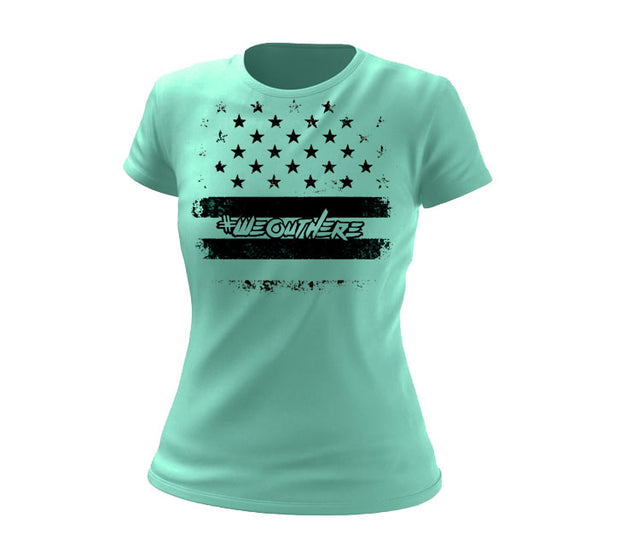 #WeOutHere™ PATRIOT T-SHIRT MINT (Women's) - We Out Here